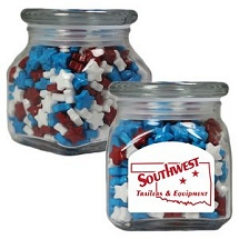 Candy Apothecary Jars with Logo