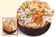 Snack Attach cookie and candy business gift filed with gourmet chocolate chip cookies, jelly beans, mints and more