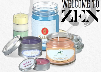 Essential Oil infused Soy Candles  with your logo for wellness programs and business gifts