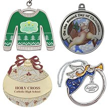 Brass Ornaments, Pewter and Metal  Christmas Ornaments