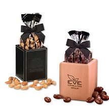 Office Gifts with Candy and Nuts and your Logo engraved or debossed on gifts