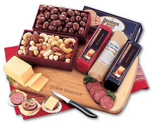 Meat and Cheese Business Food Gifts with Logo