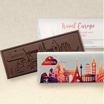 Custom Chocolate Wrapper Bars with  Custom Logo Design or Stock