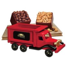 Wooden hand-made Dump truck, flat bed truck, delivery trucks and more with your logo