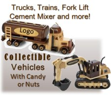 Personalized Wooden Trucks, Fork lifts, cement mixer, semi trailer, delivery van and more