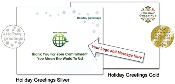 Holiday Insert Sheets to go inside the envelope with gift book to tell  your employees or customers how much you appreciate them. Order them printed or blank