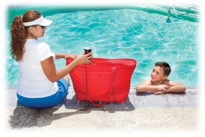 Customized totes with logo or message - Insulated cooler totes and promotional beverage totes