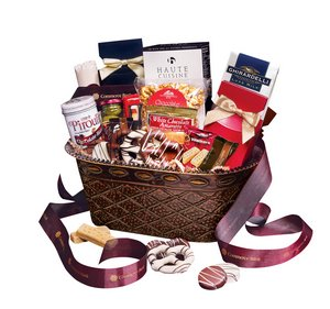 Business Food Gift Baskets in a variety of containers  showcasing your logo