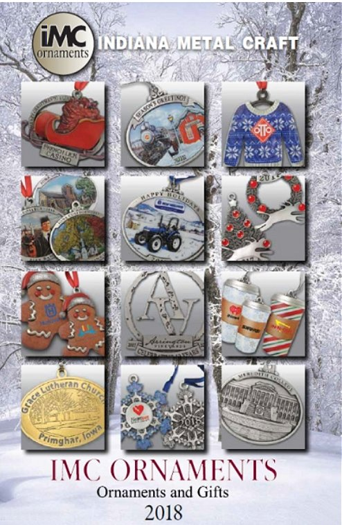 Custom Pewter and Metal ornaments with your logo or message