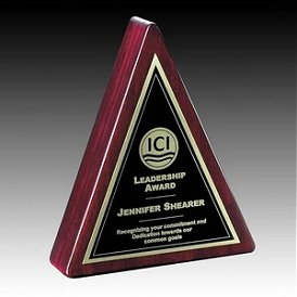 Award trophies desk top awards in engraved crystal , rosewood or aluminum